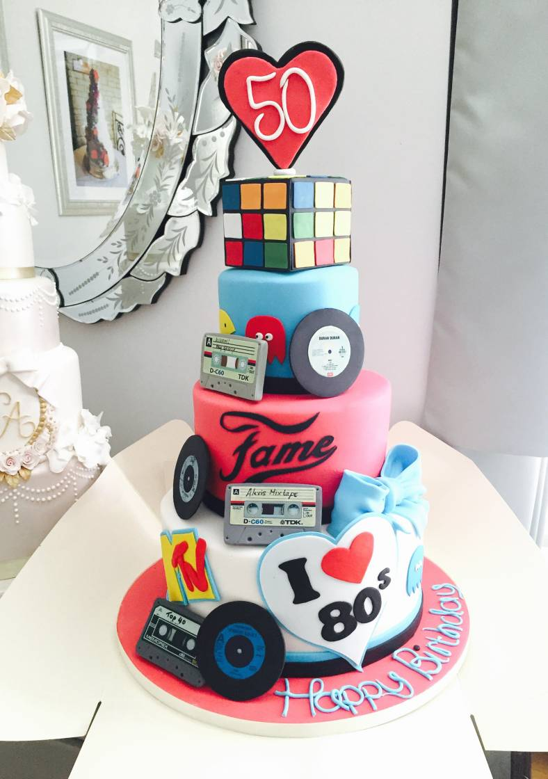 We Loved Designing And Creating This 80s Themed Cake Earlier Year The Remit Was Tall Big