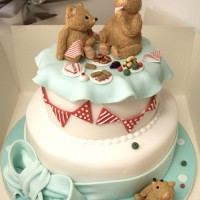 Teddy Bears Picnic two tier cake