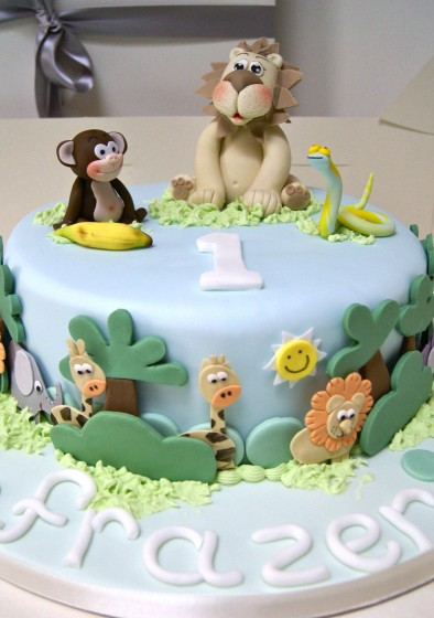 Jungle Themed Baby Gifts Uk : Jungle birthday cake hall of cakes